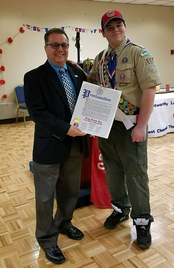 Councilman Loguercio Honors Eagle Scout from Troop 560 in Coram