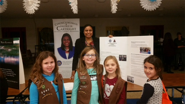 Councilwoman Cartright Joins Girl Scouts from Port Jefferson Station Troop 3067 for Womens Career Ni