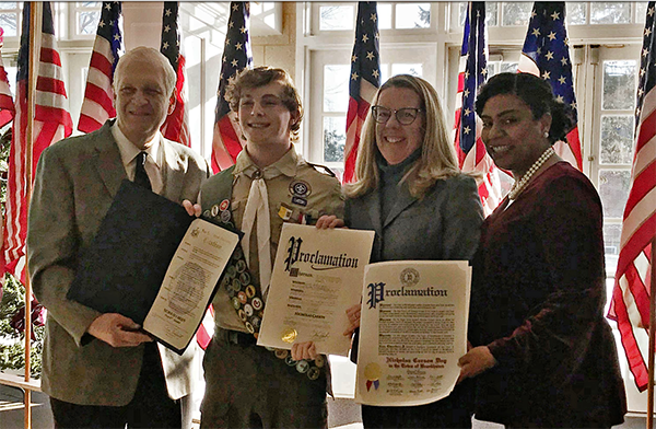 Councilwoman Cartright Honors Eagle Scouts from Setauket Troops 427 and 70