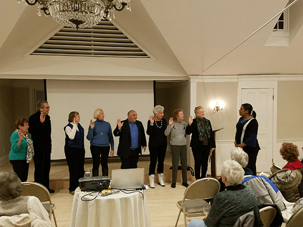 Councilwoman Cartright Swears in Trustees at Three Village Community Trust Annual Meeting