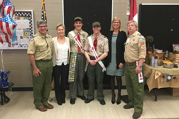 Councilwoman Bonner Honors New Eagle Scouts from Troop 204 in Miller Place
