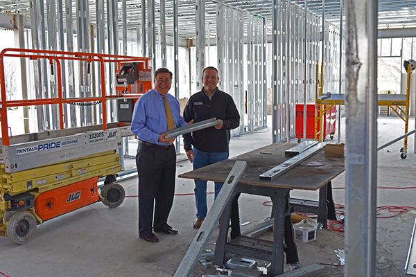 Supervisor Romaine and Councilman Panico Tour Mastic Beach Ambulance Headquarters Construction Site