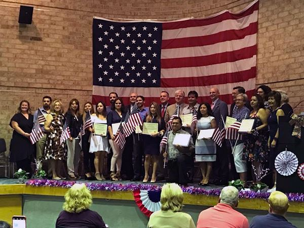 Brookhaven Supervisor Romaine and Councilman Panico Congratulate New United States Citizens