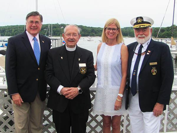 Supervisor Romaine and Councilwoman Bonner Attend the Blessing of the Fleet at the Mount Sinai Yacht