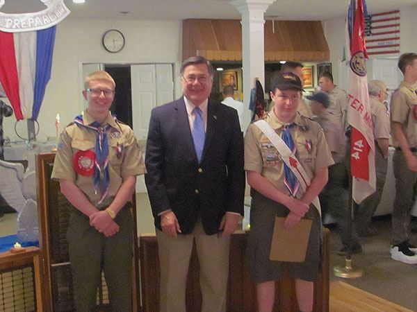 Supervisor Romaine Honors Eagle Scouts from Troop 29 in East Moriches and Troop 414 from Center Mori