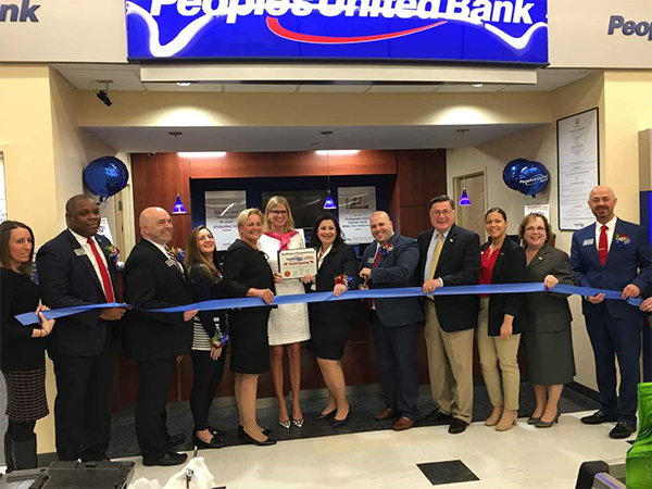 Supervisor Romaine and Councilwoman Bonner Celebrate Grand Opening of Peoples United Bank in Rocky P