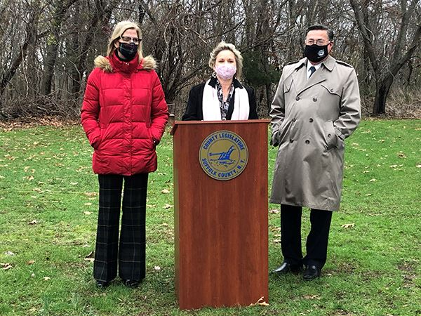 Little Portion Friary Open Space Purchase Jane Bonner, Sarah Anker and Supervisor Romaine